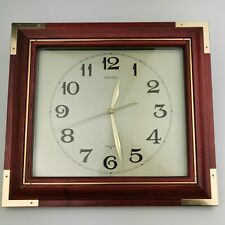 ~ Vintage ~ Seiko ~ Analogue Quartz ~ Wall Clock ~ Wooden ~ Model  QA212B ~