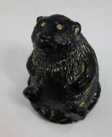 Bear Carved Soapstone Figurine Aardik Sculpture Collectible Canadian Art