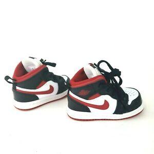 Nike Air Jordan 1 Mid Very Berry-White (TD) Size 4C 640735-016 Baby Toddler shoe