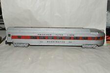 S scale American Flyer Lines streamlined passenger car train WASHINGTON