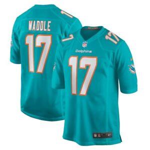 Youth Miami Dolphins Jaylen Waddle Nike Aqua 2021 NFL Draft 1st Round Game Pick
