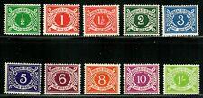 Ireland 1940-69 Postage Due Set, Sc# J5-J14 - MNH