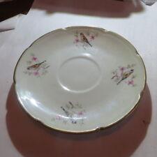 1 petite assiette avec bouvreuil « « Véritable porcelaine fabriquée à Vierzon Fm