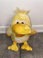 QUACKING DUCK PUPPET By Ganz Webkinz HE5637 QUINN EASTER STUFFED ANIMAL PLUSH