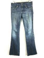 Seven 7 For All Mankind Women's Bootcut Jeans Size 26 x 33 Cut #719140 With Wear
