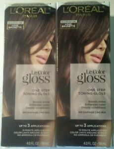 2 L'Oreal Paris Le Color Gloss In-Shower Toning Gloss ~ Cool Brunette