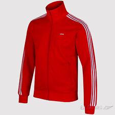 adidas Originals Mens Beckenbauer OG Track Top Zip Jacket 3 Stripe Red L