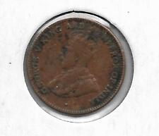 STRAITS SETTLEMENTS 1916 1/4 CENT COIN - X F - BV$40