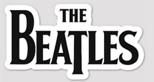 the beatles logo 3.5 inch Sticker BOGO white Vinyl laptop Decal