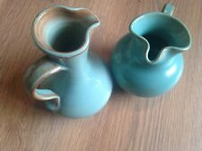 Two PRINKNASH ABBEY POTTERY JUGS COLOUR GREEN