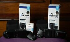 3 Nissin Flashes and 2 Triggers for Fujifilm Cameras, Lightly Used
