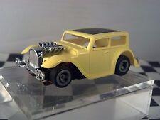 32 Chopped Hot Rat Rodl Yellow Black Roof  Sedan  HO Scale Slot Car Body Only