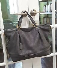 Authentic LOUIS VUITTON Mahina Stellar GM Grey Hobo Bag Excellent! Retail: $5k