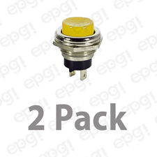 SPST (N/O) MOMENTARY ON YELLOW PUSH BUTTON SWITCH 4AMPS @ 125VAC #66-2429-2PK