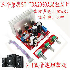 TDA2030A 18W+18W Bass 2.1 Power Amplifier Board 3 Sound Track PC Speaker Circuit