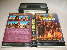 VHS *ROBOCOP 2:YOUNG GUNS 2*(Not For Sale) Dealer Roadshow Timecode Preview Tape