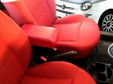Bracciolo Premium per FIAT 500 ecopelle ROSSO REGOLABILE originale Wood Company