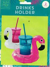 Inflable Flamingo Cisne flotante bebida puede Copa titular Bañera de hidromasaje Piscina Playa Fiesta
