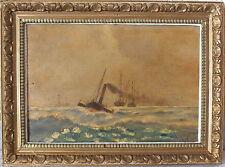 hst huile sur toile marine signée G.Lamarche 1918 (3)