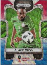 2018 Panini FIFA World Cup Blue Red Wave Prizm (140) Ahmed MUSA Nigeria