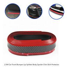 2.5M Car Front Bumper Lip Splitter Body Spoiler Chin Skirt Tail Fins Protector