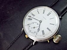 Vintage and Rare P.Moser Watch Co Repeater Swiss Made Porcelain Dial Wristwatch