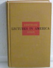 GERT.STEIN-LECTURES IN AMERICA-1stEd,1stPr2ndBinding-HC 1935-LIGHTLY READ/UNREAD