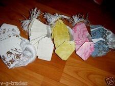 LOT 100 Damask Print Paper Merchandise Price Tags with White String PINK BLUE EC
