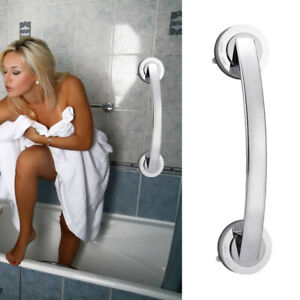 Bath Safety Handle Suction Cup Handrail Grab Bathroom Grip Tub Shower Bar Rail