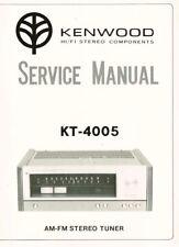 Kenwood  Tuner KT-4005 Schaltplan Manual ORIGINAL ca. 25 Seiten