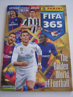 ALBUM PANINI , FIFA 365 , THE GOLDEN WORLD OF FOOTBALL 2018 .