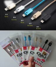 Yoobao 1M Metal Intelligent LED Lightning Charging USB Cable for Apple iphone