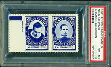 1960 61 TOPPS STAMP PANELS NELS STEWART / SPRAGUE CLEGHORN PSA 8 NM-MT