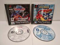 Lot 2 Jeux PS1 Beyblade & Digimon Rumble Arena -  PAL français - Bon état