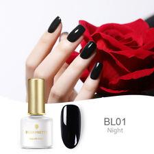 6ml BORN PRETTY Black UV Gel Nail Polish Soak Off Mnaicure Gel Varnish Decor DIY