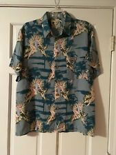 RON CHERESKIN Hawaiian Shirt Size Large Pin Up Girls Short Sleeve Button Down