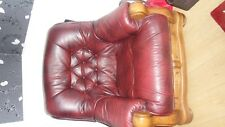 Oak and Leather 3 piece Suite