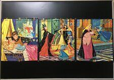 Set of 3 Walt Disney Productions 1958 Sleeping Beauty Al Anderson Puzzles