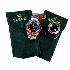 Pochette tessuto Floccato Custodia Monoposto Verde Porta Rolex  Piu' Monocolo 5x