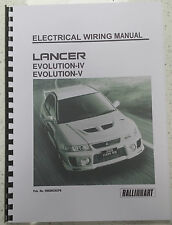 MITSUBISHI LANCER EVO IV / V ELECTRICAL WIRING MANUAL REPRINTED