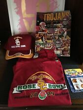 USC Trojans 2008 Game Day Senior Salute, 2009 Rose Bowl T Shirt And Hat Lot