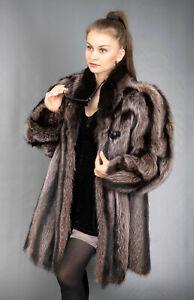 9656 WONDERFUL REAL RACCOON COAT LUXURY FUR JACKET BEAUTIFUL LOOK SIZE XL
