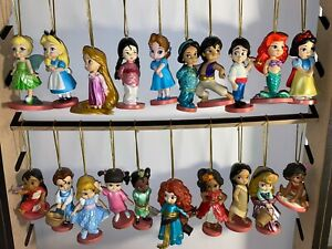 Disney Store Hanging Princess Character Christmas Tree Decorations - 20 Titles