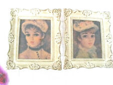 Vintage Windsor Art Products Wall Art  2  Antique Frames Marianne & Suzanne #b11