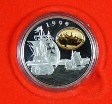 1999 Macau Return To China Silver Proof by RCMP 100 Patacas