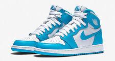 2015 Nike Air Jordan 1 Retro High OG BG SZ 7Y UNC Carolina Blue GS 575441-117