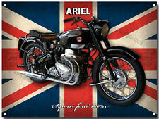 ARIEL SQUARE FOUR 1000CC MOTORCYCLE METAL SIGN.VINTAGE (BLACK A4)