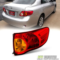 For 2009-2010 Toyota Corolla Tail Lights Brake Lamps Outer Right Passenger Side