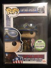 Funko Pop Marvel Captain America 219 2017 ECCC ULTRA RARE ERROR!!!!