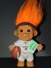 "Troll Doll 4 1/2"" Russ NFL Football Cincinnati  Bengals Orange Hair"